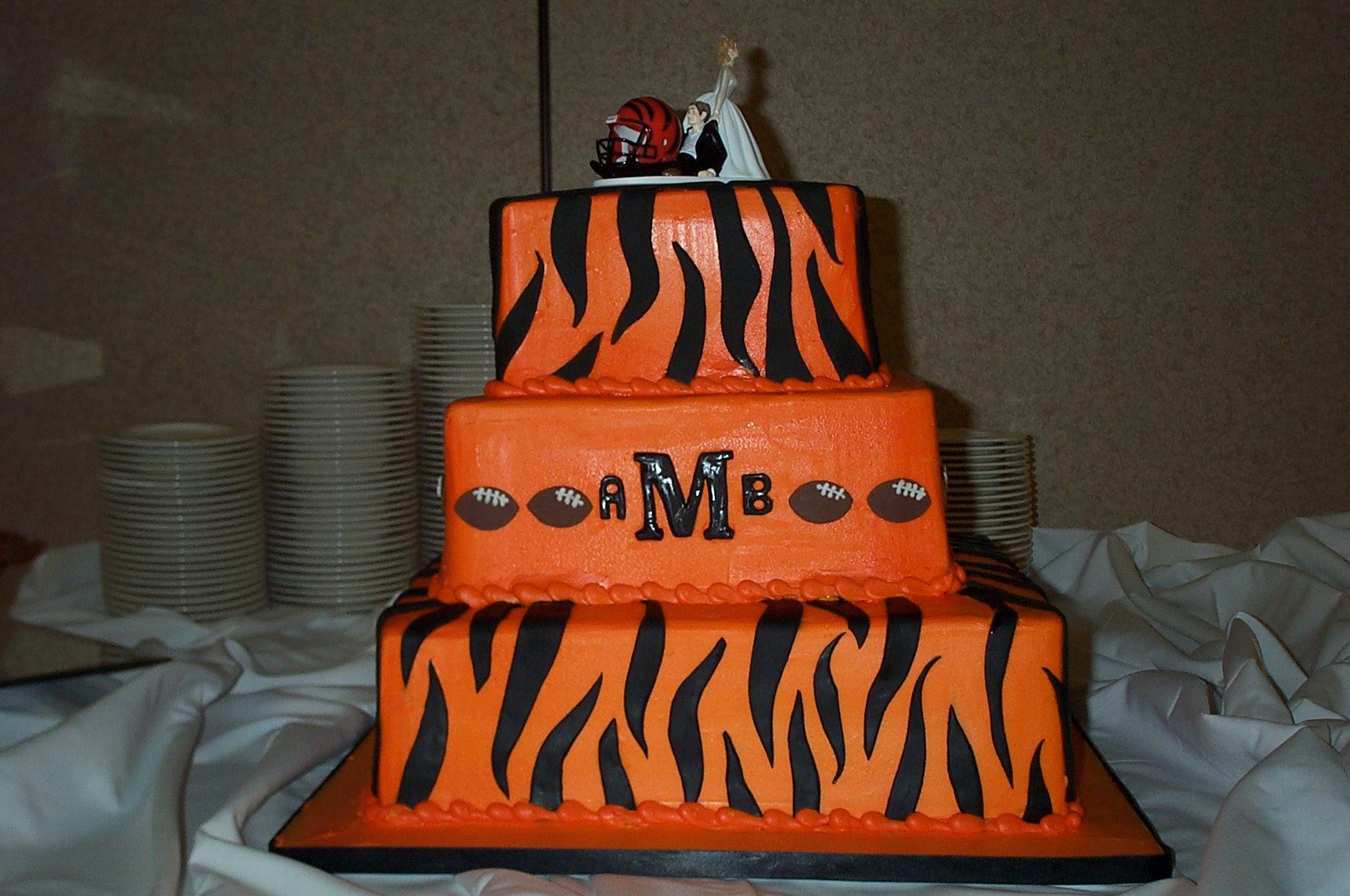 bengals wedding cake Tie the Knot at Oasis