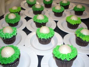 golf ball cupcakes Tie the Knot at Oasis