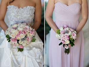 Gorgeous bouquets...and dresses!