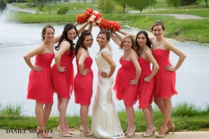 Great shot of the brides and her ladies.